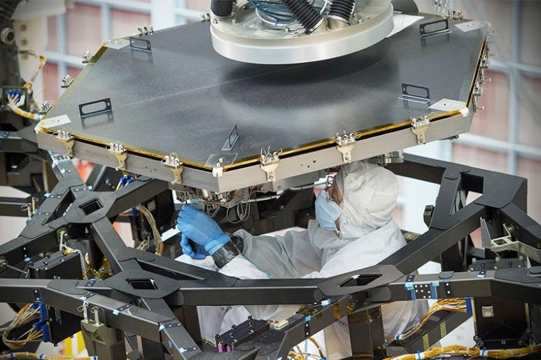 The James Webb Space Telescope nears completion as NASA begins installing mirrors