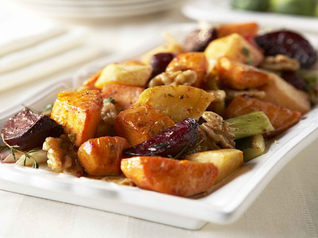 Roasted Winter Vegetables with Walnut Vinaigrette