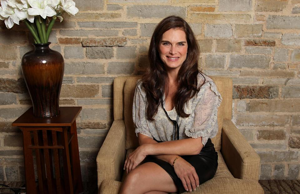 "This June 27, 2012, photo shows actress Brooke Shields, from the upcoming play ""The Exorcist"" in Los Angeles. The play, an adaptation of the 1971 William Peter Blatty novel, runs through Aug. 12, at the Geffen Playhouse in Los Angeles. (Photo by Matt Sayles/Invision/AP)"