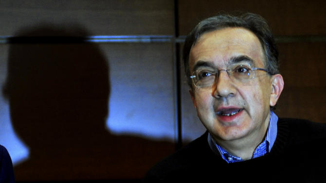 Fiat and Chrysler CEO Sergio Marchionne talks during the shareholders meeting of Fiat Group at the Lingotto Fiat headquarters in Turin, Italy, Turin, Wednesday, March 30, 2011. Marchionne said the two automakers potentially could generate combined revenues of €100 billion ($141 billion) by 2014. Marchionne expects Fiat's revenues alone to nearly double from €35.8 billion 2010 to €64 billion. Fiat SpA, which took over Chrysler LCC after it emerged from bankruptcy 21 months ago, is in the process of relaunching Chrysler, which still has not returned to profit. The automaker dramatically narrowed losses in 2010, and forecasts net income of $200 million to $500 million for 2011.(AP Photo/Massimo Pinca)