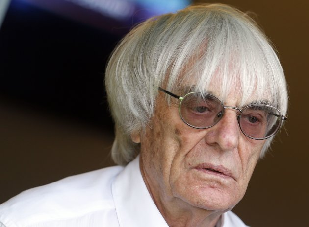 Formula One supremo Ecclestone is seen after the qualifying session of the Monaco F1 Grand Prix