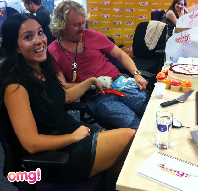"Keith Lemon blogged for us exclusively at our birthday party KEITH: ""This is my blog for the day, never done a blog before never had someone do a blog for me before, at the moment  someone is typing"
