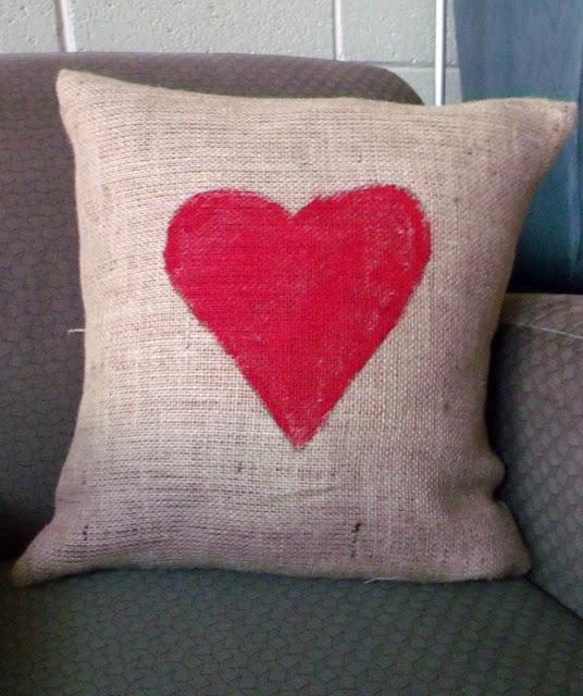Painted-heart Pillow