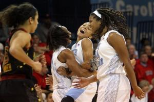 No. 15 UNC women beat No. 8 Maryland 60-57