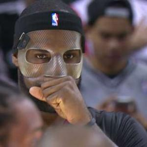 LeBron on Mask and Short-sleeve Jersey