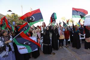 Supporters of Operation Dawn demonstrate in Tripol …