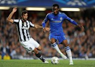 John Obi Mikel, right, in action against Juventus