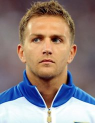 "Italy defender Domenico Criscito posing before a friendly football match against Spain at San Nicola stadium in 2011. Criscito was axed from Italy's squad over ""Calcioscommesse"" (football betting), which has been tied to match fixer Wilson Raj Perumal's alleged boss in Singapore"