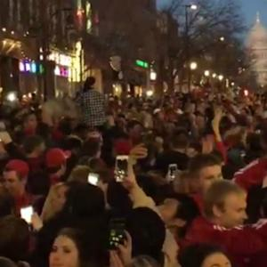 Wisconsin Fans Go Wild After Elite 8 Victory