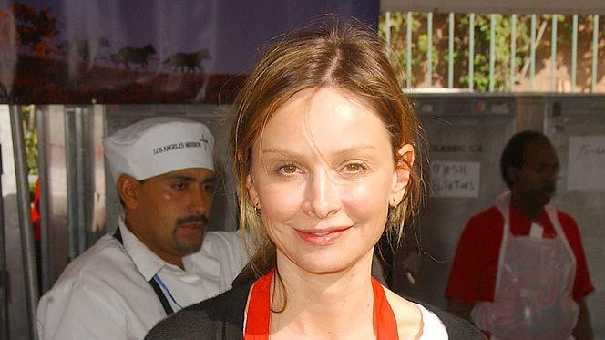 Actress Calista Flockhart participates in serving in serving Tha