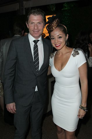 Bobby Flay and Marcela Valladoid host the Breeders' Cup Taste of the World celebration on November 2, 2012.