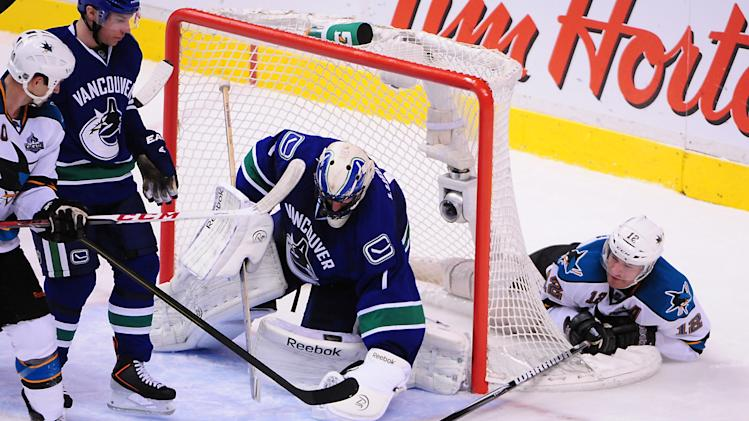 NHL: Stanley Cup Playoffs-San Jose Sharks at Vancouver Canucks