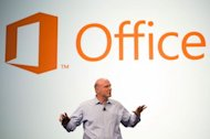 Steve Ballmer unveiling the new Office