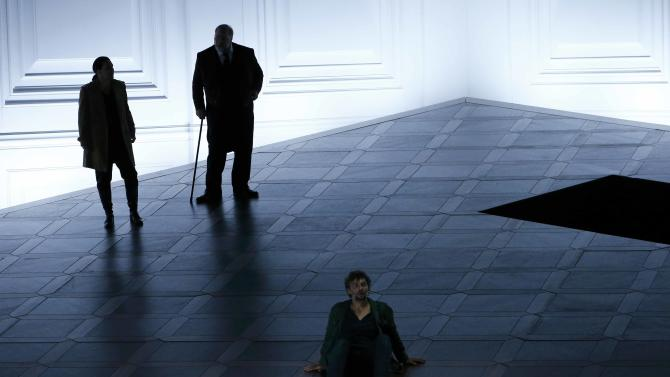 "Pieczonka, Koenig and Kaufmann perform on stage during a dress rehearsal of Ludwig van Beethoven's opera ""Fidelio"" in Salzburg"