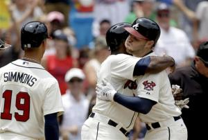 Braves homer 3 times, beat D-backs 6-2 for sweep