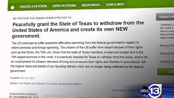 <p>Of more than 30 states referenced in secession petitions, only Texas and Louisiana have signatures needed for White House review</p>