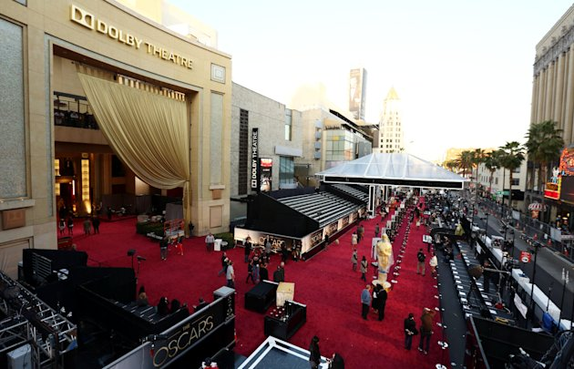 People prepare the red carpet …