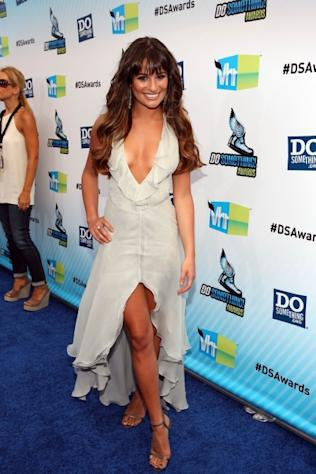 Lea Michelle looks stunning in a flowing Fendi dress at the 2012 Do Something Awards. -- Getty Images