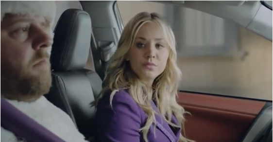 Kaley Cuoco in Toyota's Super Bowl ad