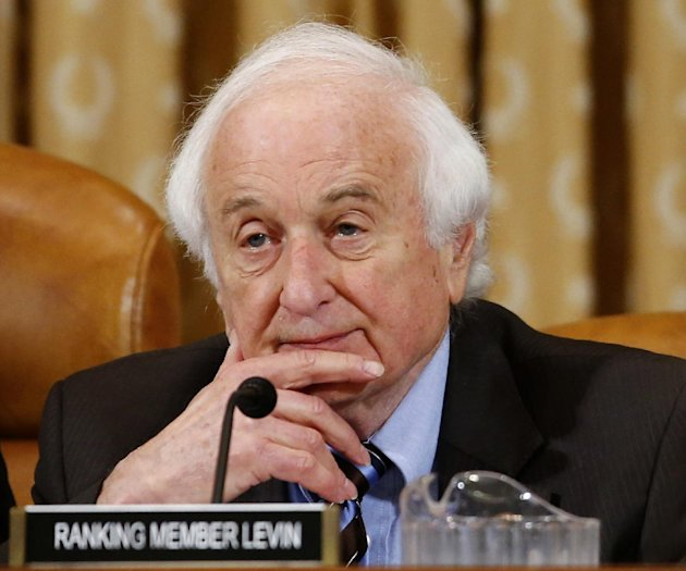Rep. Sander Levin, D-Mich., ranking Democrat on the House Ways and Means Committee listens on Capitol Hill in Washington, Friday, May 17, 2013. Political scandals have strange ways of causing collater