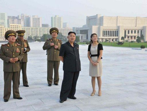 The wife of North Korean leader Kim Jong-Un has re-appeared after dropping out of the public eye for 50 days