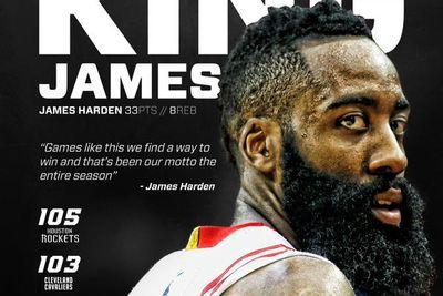 James Harden is the new 'King James,' according to the Rockets
