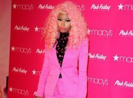 Nicki Minaj Avoids Nip Slip In Conservative Hot Pink Suit At 'Pink