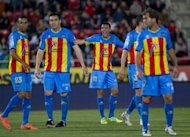 Levante players pictured during a Spanish La liga match, in May On Sunday, Levante host Real Madrid
