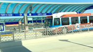 Winnipeg's rapid transit buses began moving down the new Southwest Transitway on Sunday.