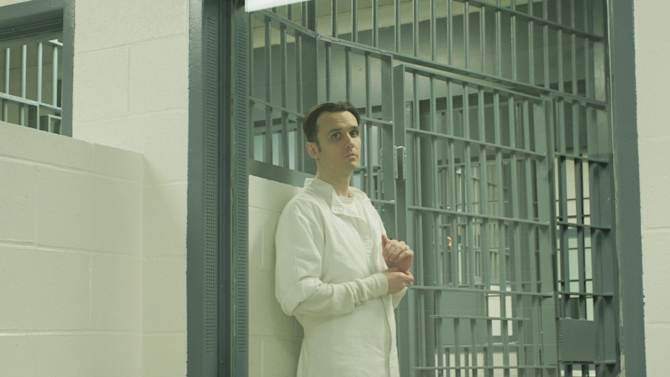"""This undated publicity photo released by Sony Pictures Classics shows Damien Echols in the documentary film, """"West of Memphis."""" (AP Photo/Sony Pictures Classics, Jeff Dailey)"""