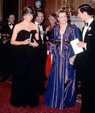 Princess Diana wore a similar black strapless dress with Prince Charles and Princess Grace of Monaco in 1981