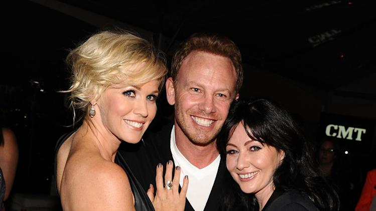 Jennie Garth, Ian Ziering and Shannen Doherty