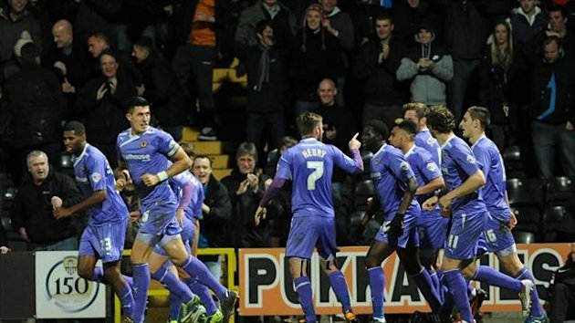 Ethan Ebanks-Landell scored the goal at Notts County which sent Wolves top of League One