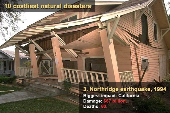 10 costliest natural disasters - Northridge earthquake