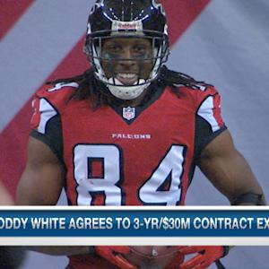 NFL Media Insider Ian Rapoport on Atlanta Falcons wide receiver Roddy White's contract extension