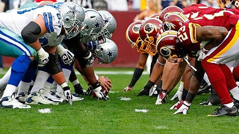 Dallas Cowboys and Washington Redskins