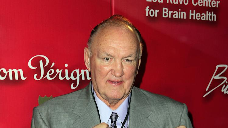 "Former boxer Chuck Wepner arrives at the Keep Memory Alive 16th Annual ""Power of Love Gala"" honoring Muhammad Ali with his 70th birthday celebration on Saturday, Feb. 18, 2012, in Las Vegas. (AP Photo/Jeff Bottari)"