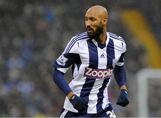 West Bromwich Albion's French striker Nicolas Anelka looks on during a Premier League match between West Bromwich Albion and Newcastle United at The Hawthorns in West Bromwich on January 1, 2014