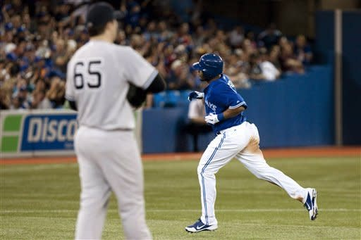 Davis has 5 RBIs, Blue Jays beat Yankees 10-7