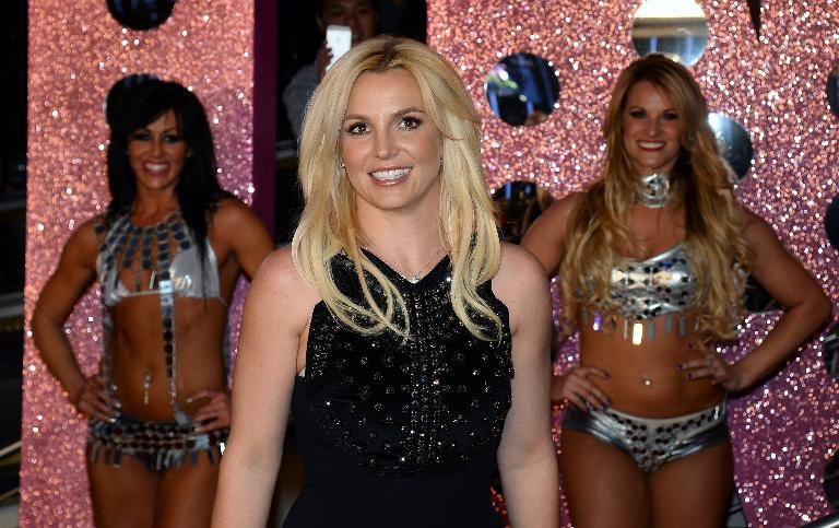 "Britney Spears arrives at a welcome ceremony as she celebrates the release of her new album ""Britney Jean"" and prepares for her two-year residency at Planet Hollywood Resort and Casino in Las Vegas, Nevada on December 3, 2013"