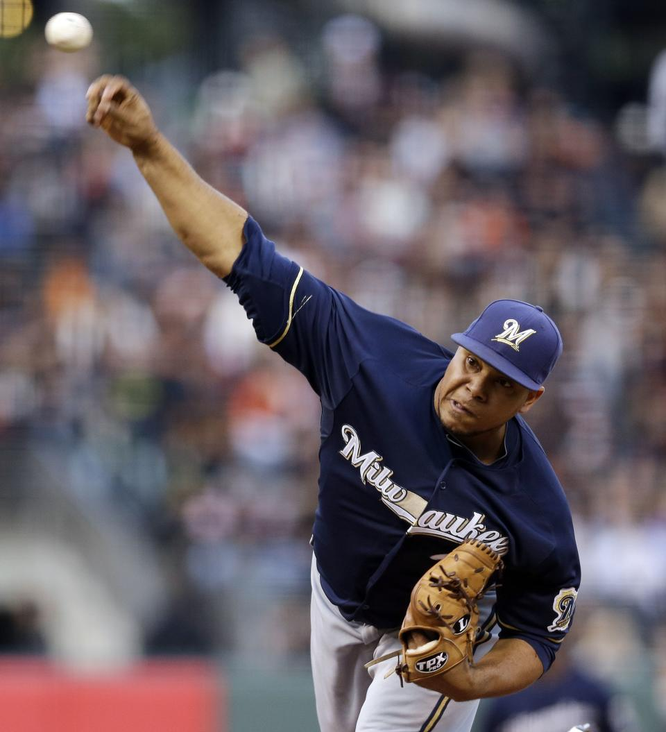 Brewers beat Giants behind Wily Peralta's pitching