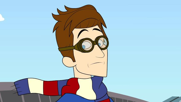 "This publicity image released by Hulu shows the character Prock, voiced by Seth Meyers, from the animated series ""The Awesomes,"" premiering Aug. 1, 2013 on Hulu. (AP Photo/Hulu)"