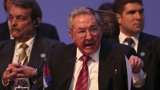 Cuba's President Raul Castro speaks during the CELAC summit in San Antonio de Belen in the province of Heredia