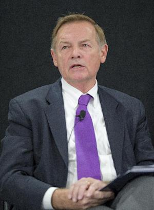 """This undated handout photo provided by the Bipartisan Policy Center shows G. William Hoagland. Health insurance CEOs are getting nervous about what could happen if Republican Mitt Romney wins the White House. Although the industry hates parts of President Barack Obama's health care law, major companies such as UnitedHealth Group and BlueCross Blue Shield stand to rake in billions of dollars from new customers who'll get health insurance under the law. The companies already have invested tens of millions to carry it out. """"There are a lot of dollars and a lot of staff time that's been put into place to make this thing operational,"""" G. William Hoagland, until recently a Cigna vice president, said of the health care law. (AP Photo/Bipartisan Policy Center)"""