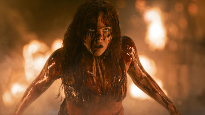 "This photo released by Sony Pictures shows Chloe Moretz in Metro-Goldwyn-Mayer Pictures and Screen Gems' film, ""Carrie."" (AP Photo/Copyright Metro-Goldwyn-Mayer Pictures Inc. and Screen Gems, Inc., MrX FX)"