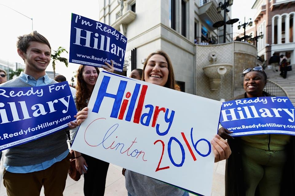 Hillary Clinton Supporters Hold Rally Urging Her To Run For President