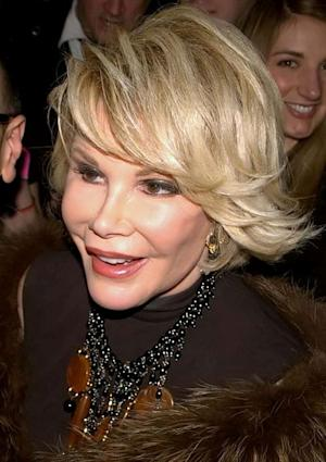 """Can we talk?"" comedienne Joan Rivers loves to talk about the pluses of plastic surgery."