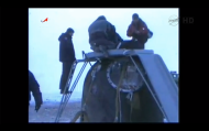 A Soyuz capsule carrying three space station crew members landed on March 15.