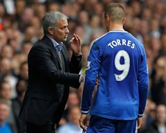 Jose Mourinho with Fernando Torres