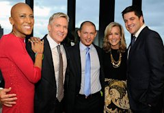 Robin Roberts, Sam Champion, Rubem Robierb, Lara Spencer and Josh Elliott | Photo Credits: Ida Mae Astute/ABC